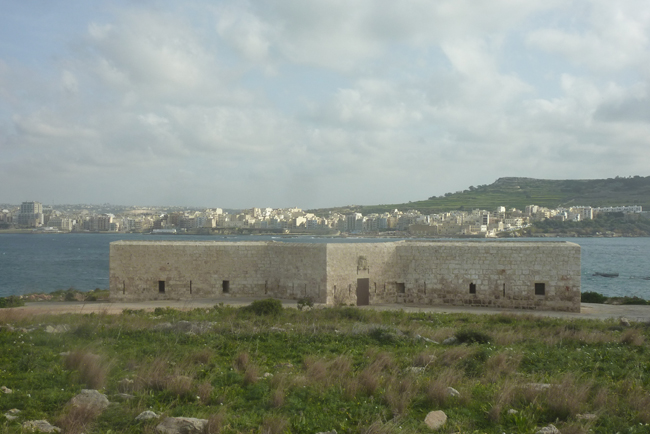 Side view of Battery from Selmun flank